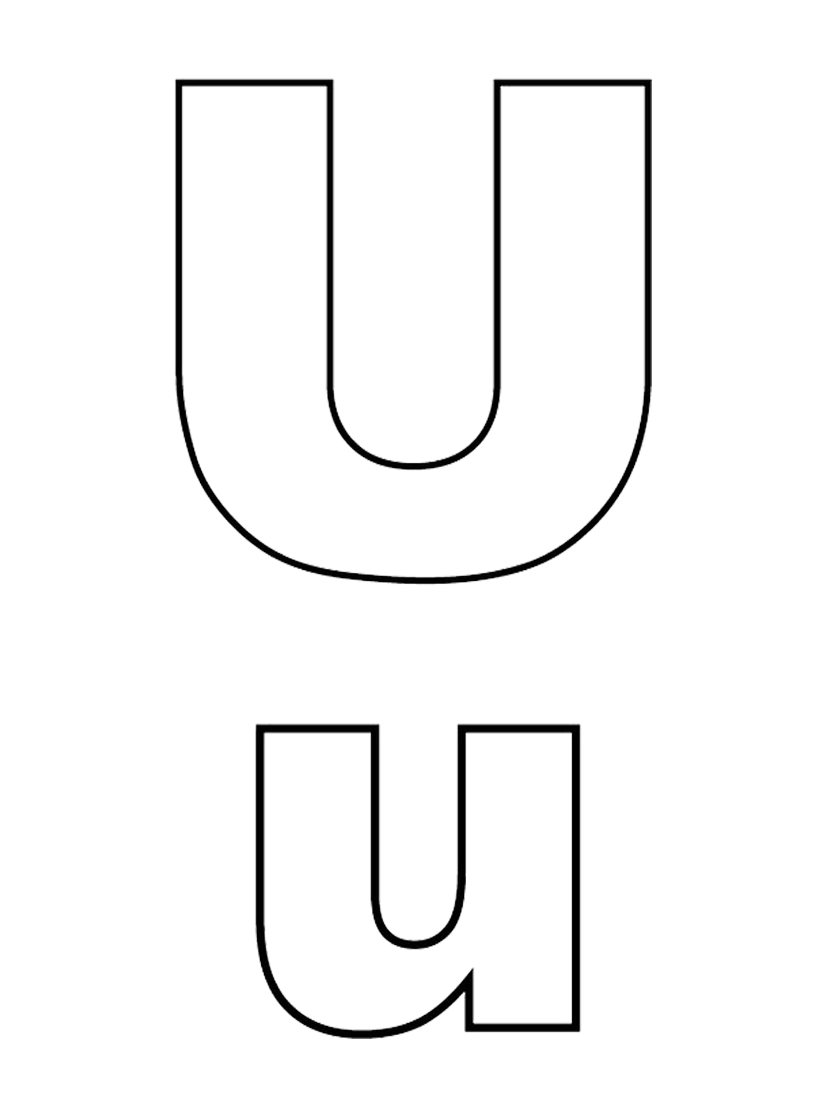 Letter U Capital Letters And Lowercase