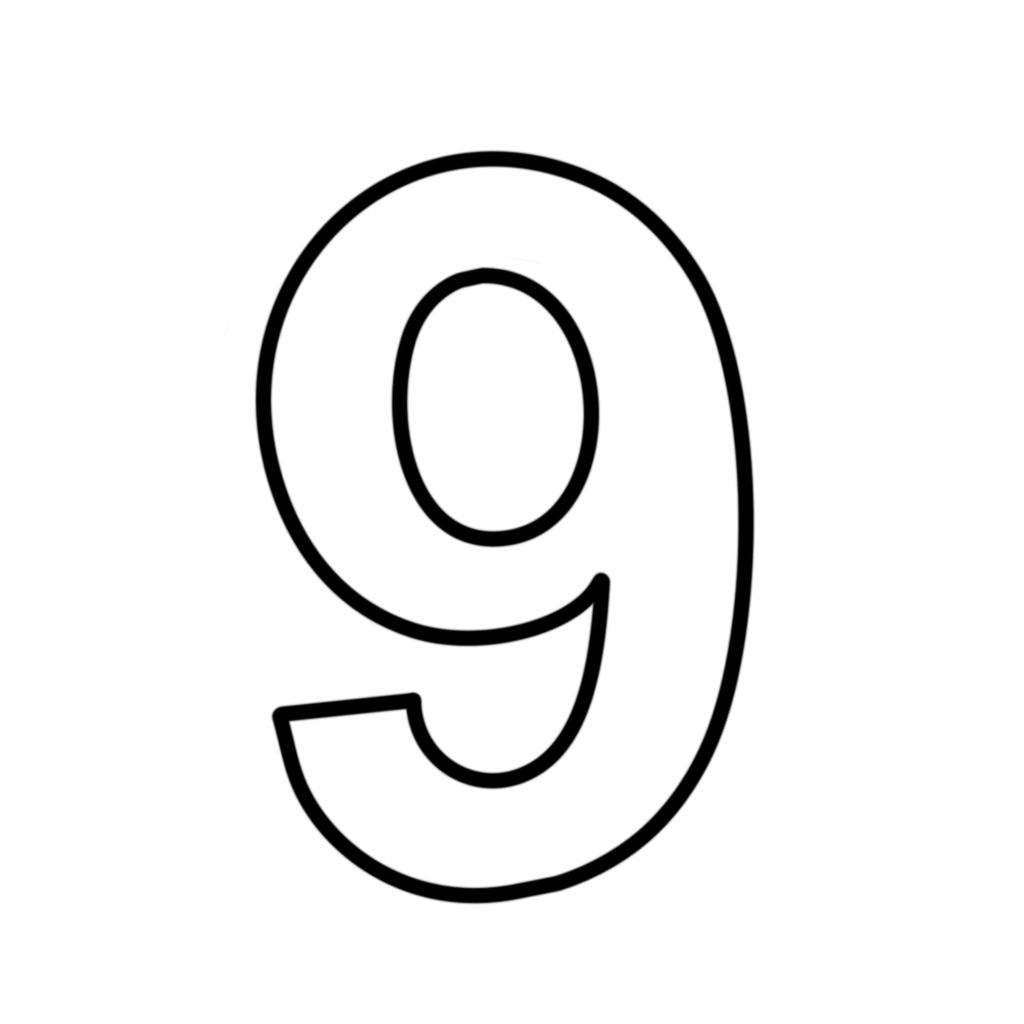 Letters and numbers coloring page