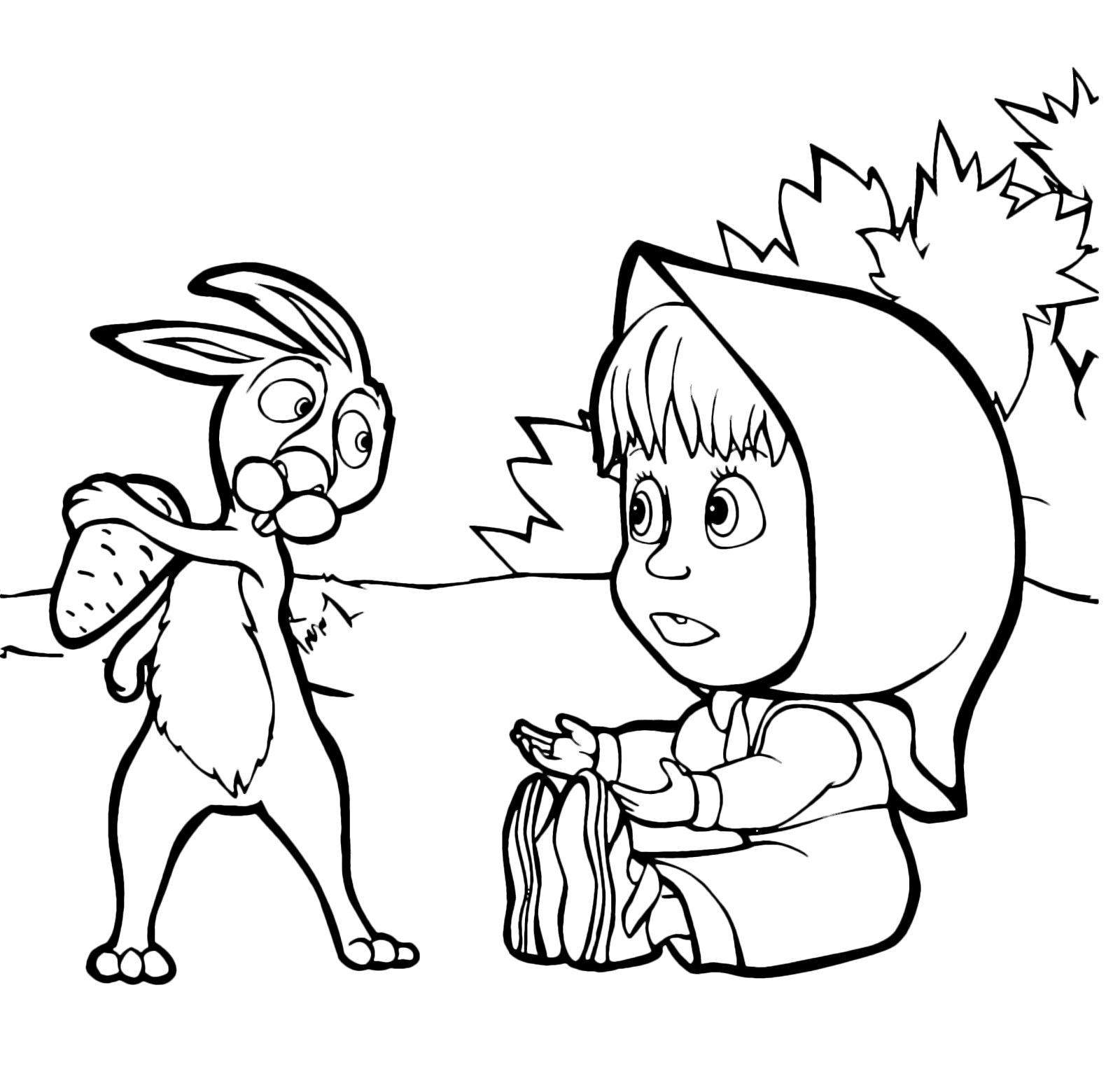 - Masha And The Bear - Rabbit Does Not Want To Give Masha Carrot