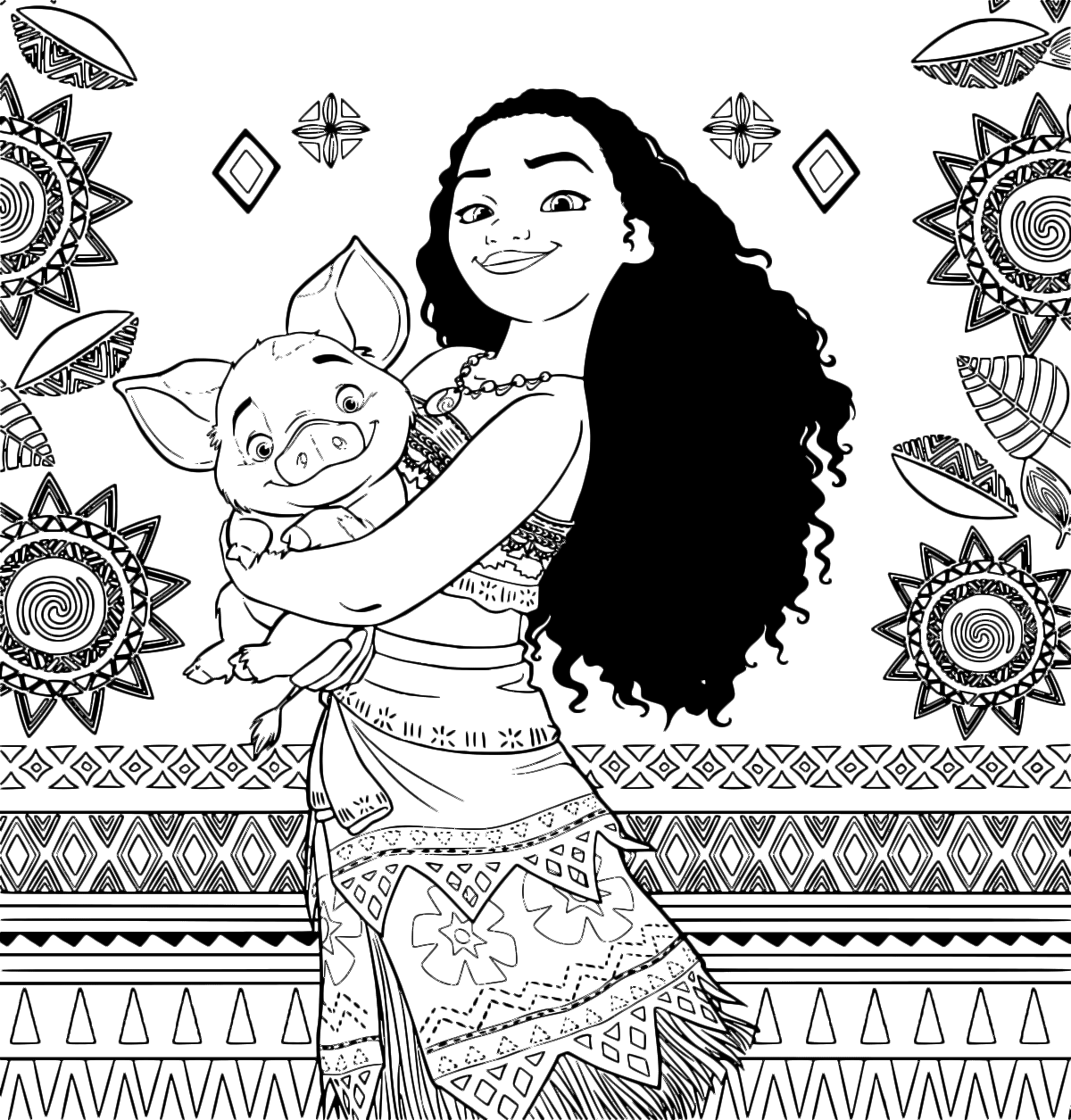 Moana - The Moana princess with Pua the pig Vietnamese