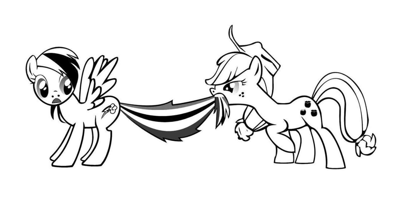 my little pony coloring pages rainbow dash baby
