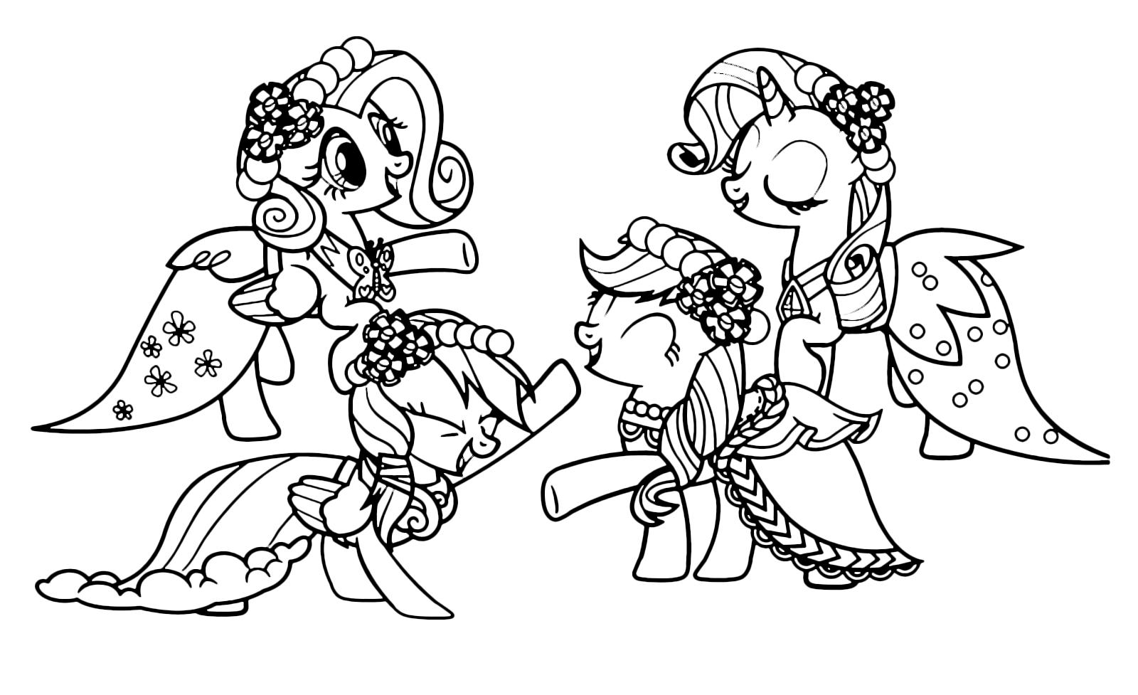 My Little Pony Fluttershy Applejack Rainbow Dash Rarity
