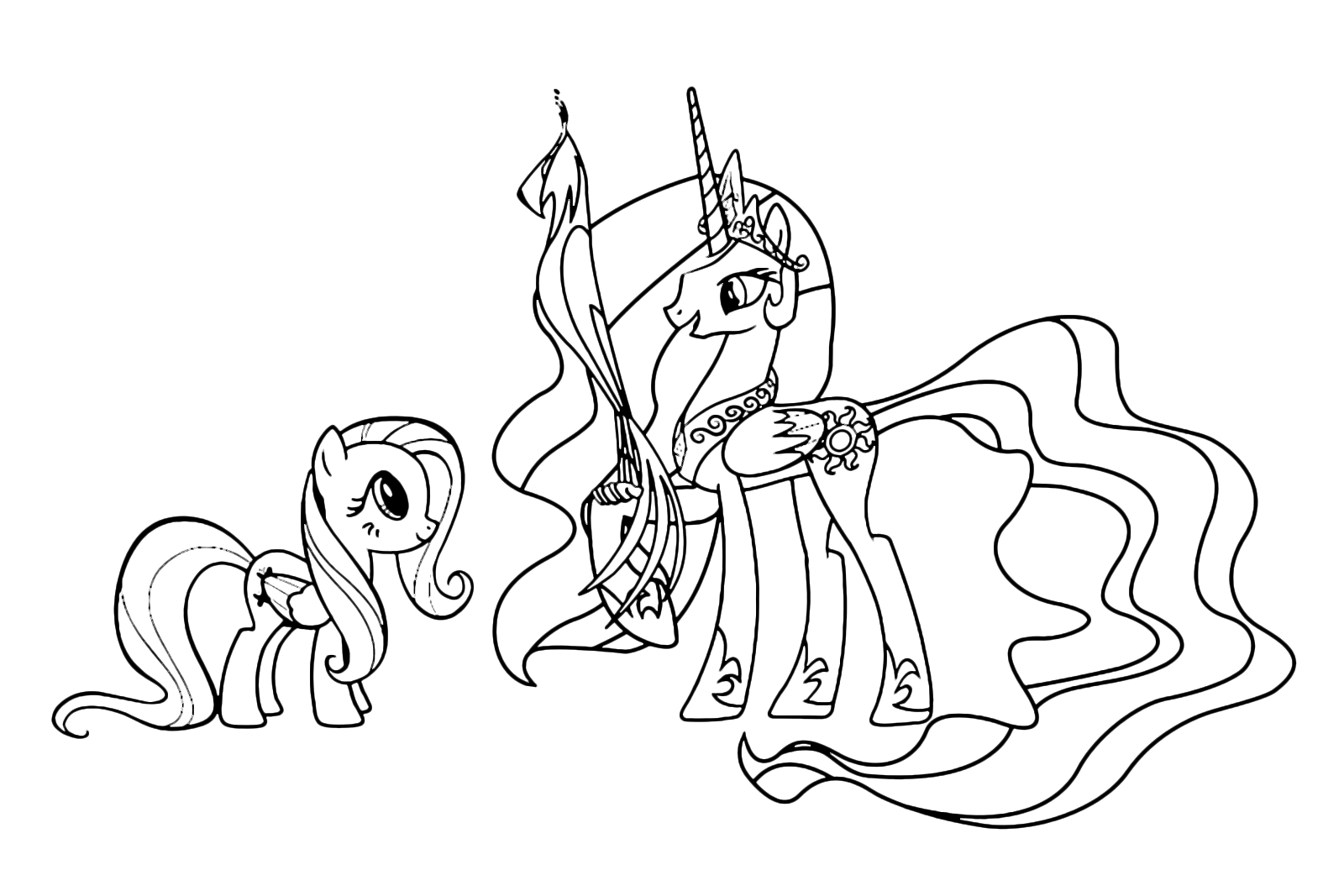 My little pony coloring pages princess celestia baby