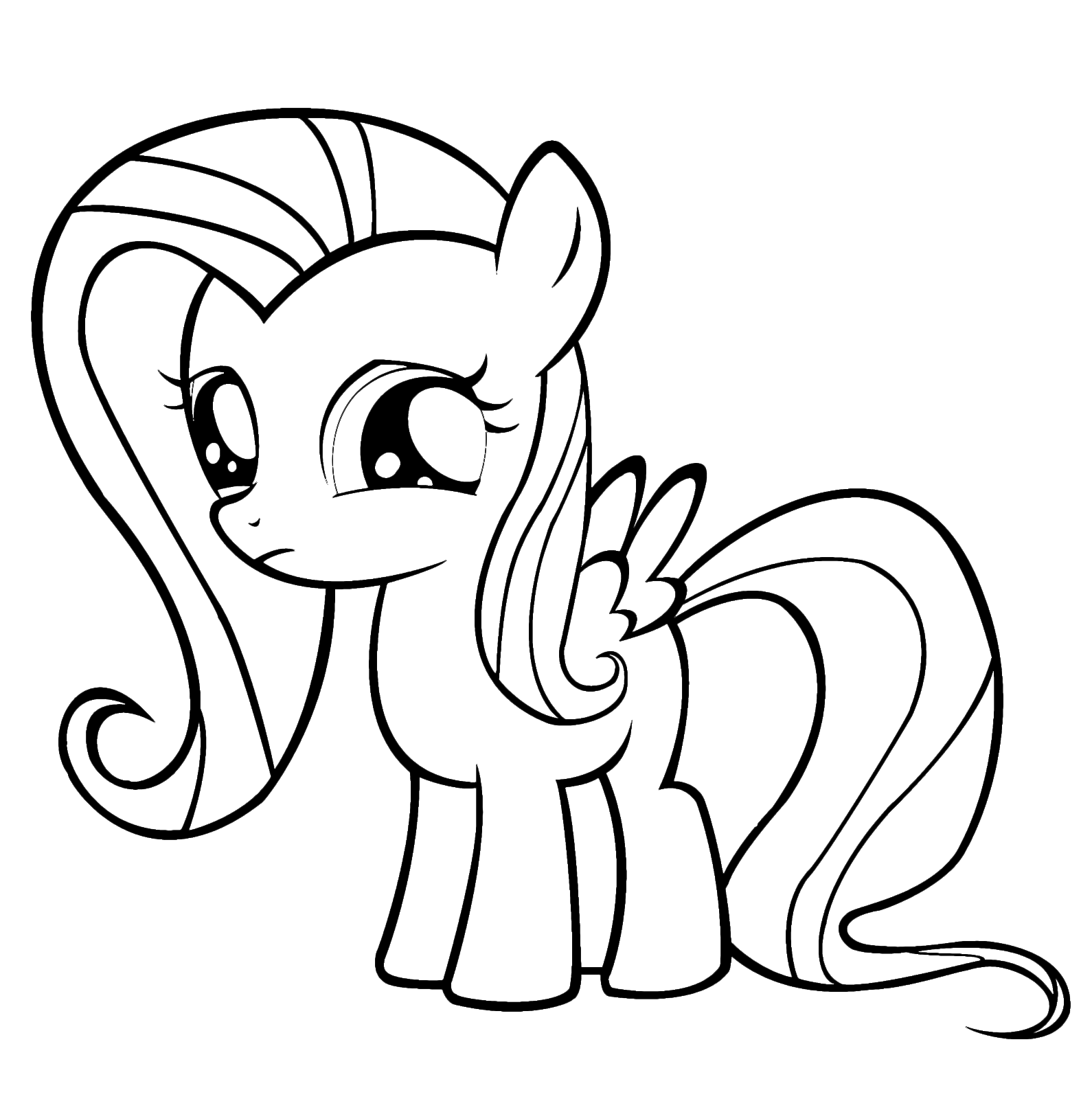My Little Pony - Fluttershy with her sweet look