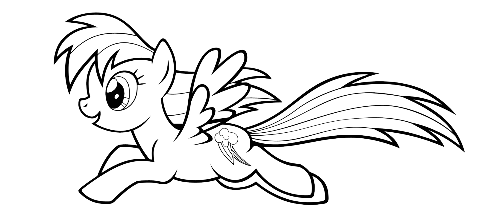Come Disegnare Rainbow Dash Della Serie My Little Pony