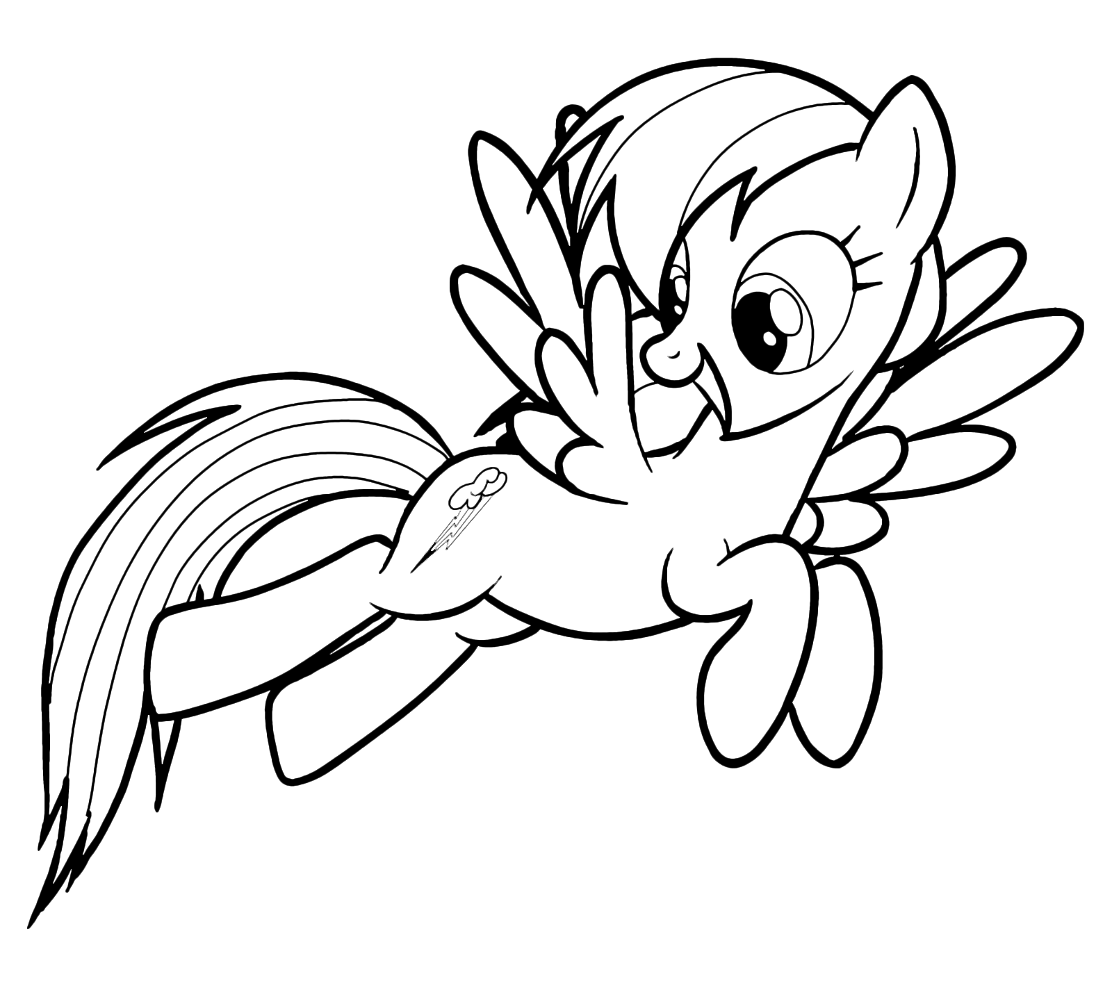 My Little Pony Colorare.My Little Pony Rainbow Dash Stands Out For A Long Jump