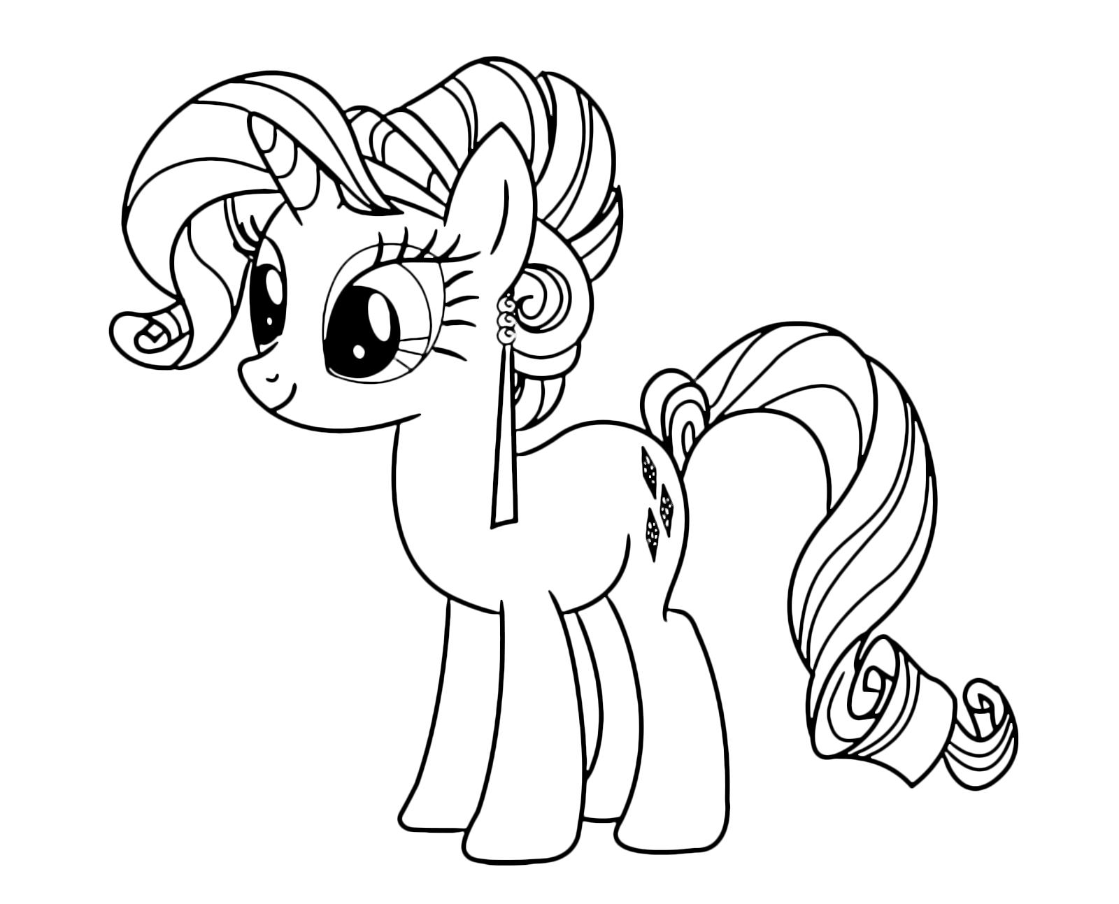 My little pony rarity is the unicorn white and purple hair - Pony da colorare in immagini ...