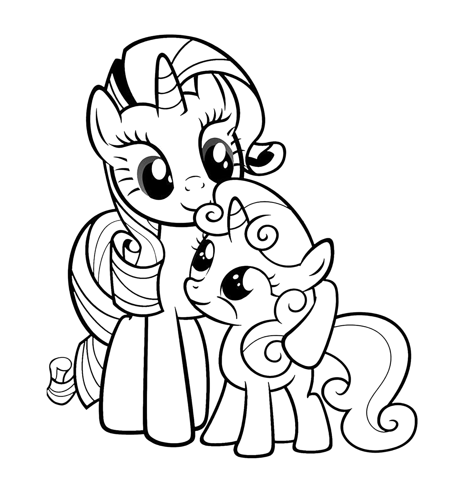 My Little Pony Coloring Pages Baby Rarity : My little pony rarity with a baby