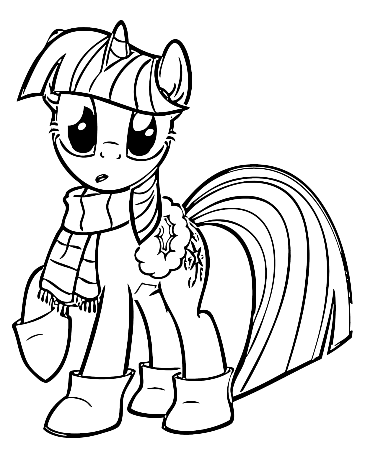 My Little Pony - Twilight Sparkle with scarf and ankle boots