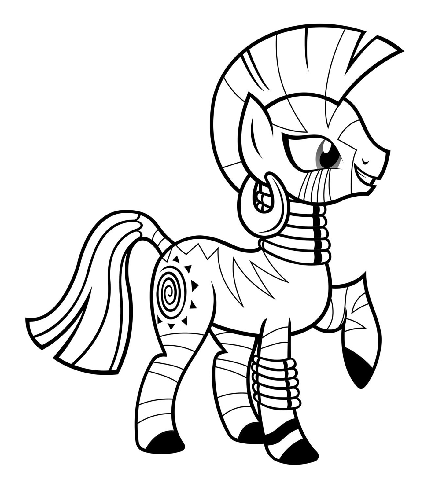 My Little Pony - Zecora is a Twilight Sparkle and Apple Bloom's friend