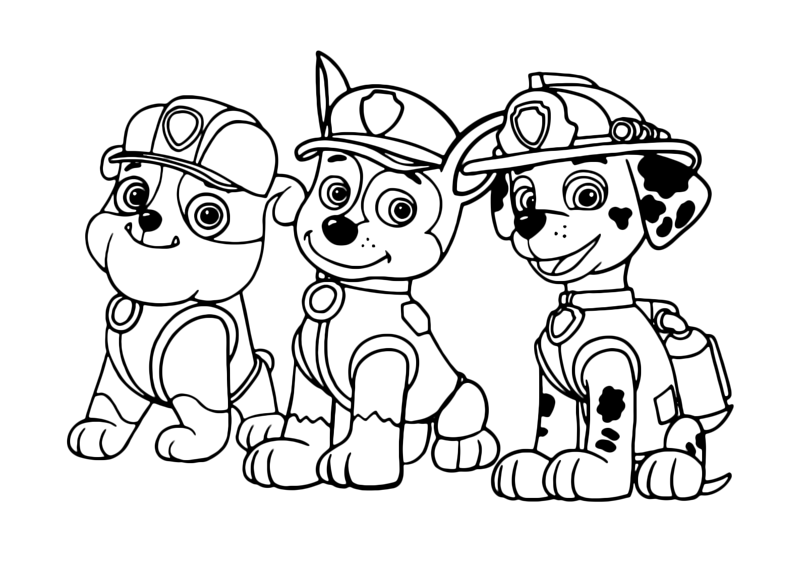 PAW Patrol - Rubble Chase and Marshall three important ...