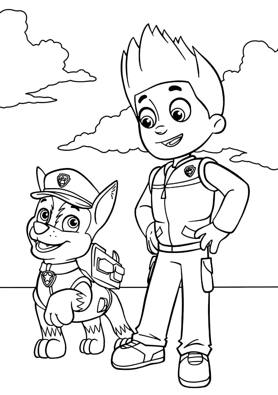 """PAW Patrol"" coloring pages"