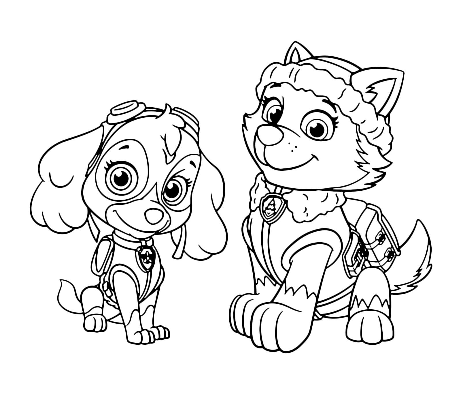 Skye Paw Patrol Coloring Pages : Paw patrol skye and everest together