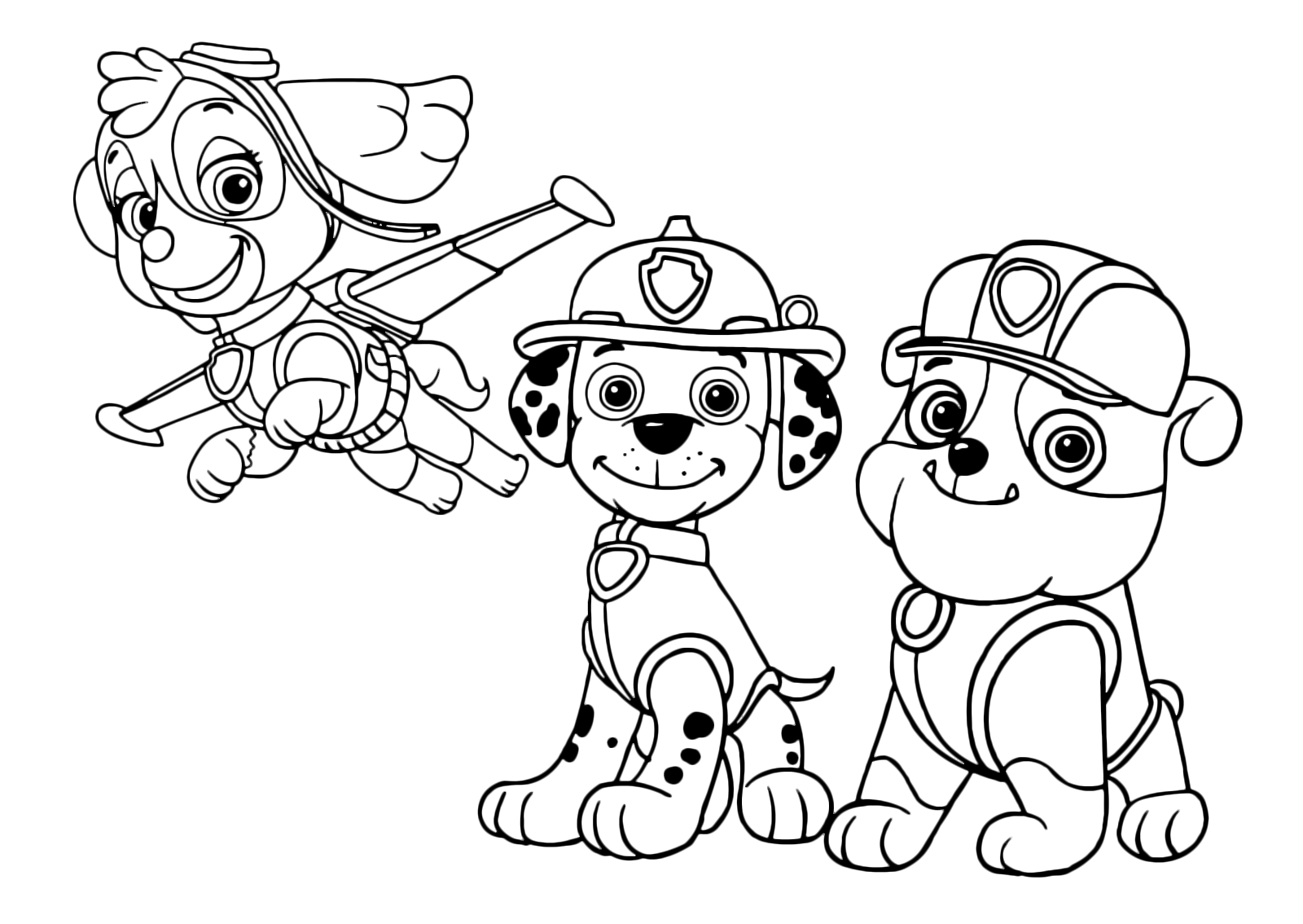 Paw Patrol Skye Marshall And Bubble Ready For Action