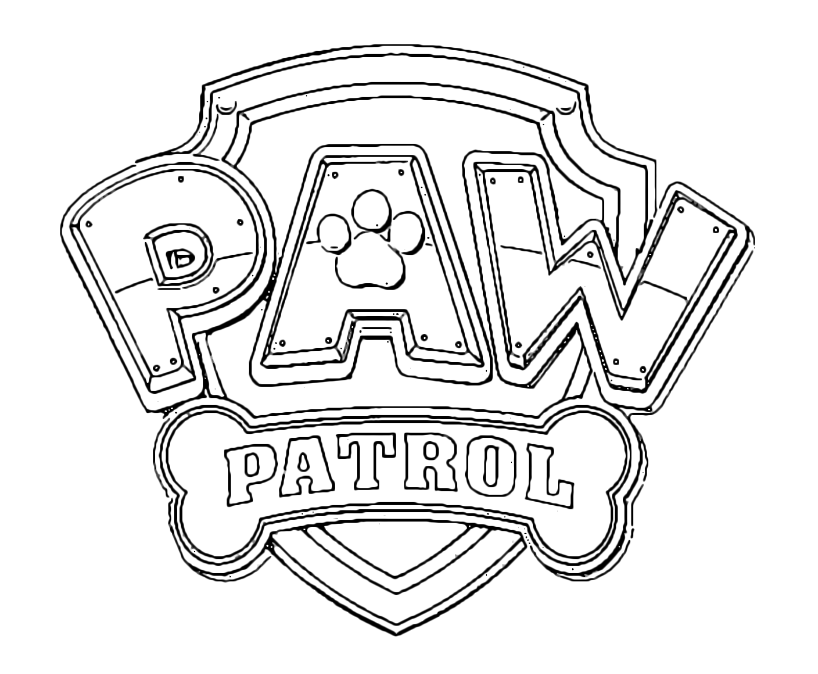 Paw patrol logo coloring pages - The Paw Patrol Logo