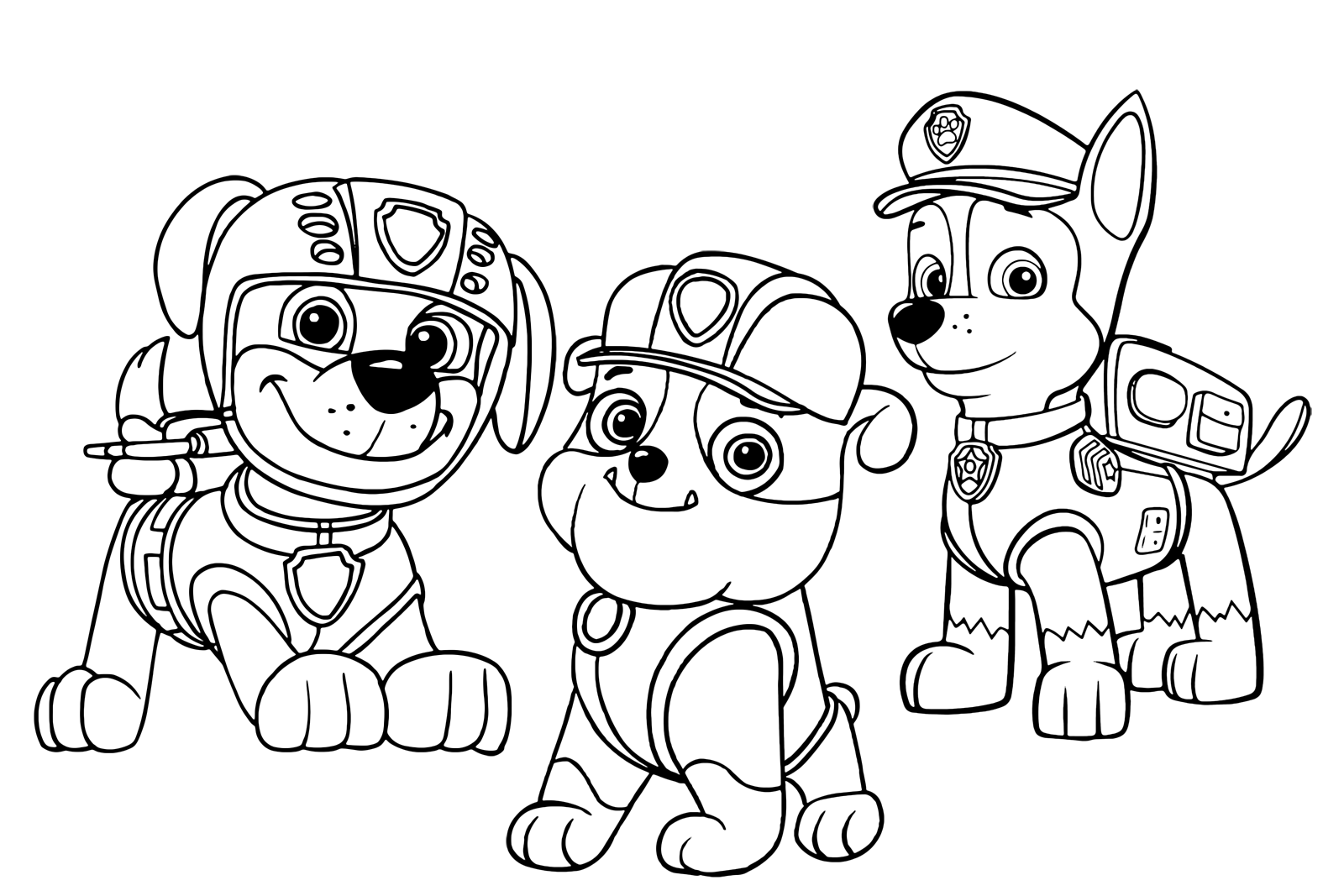 paw patrol zuma rubble and together