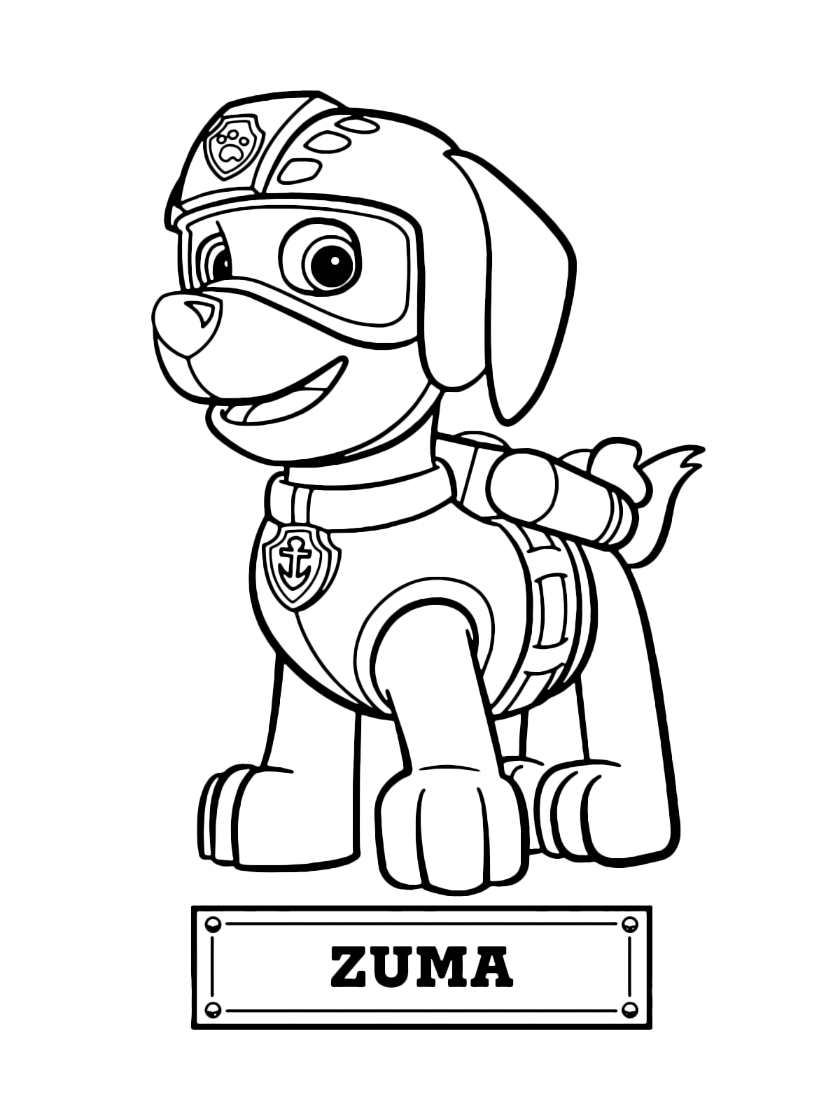 - PAW Patrol - Zuma The Dog For The Water Rescue