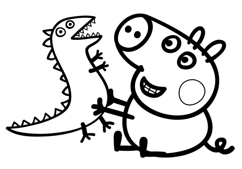 Peppa Pig George With His Dinosaur
