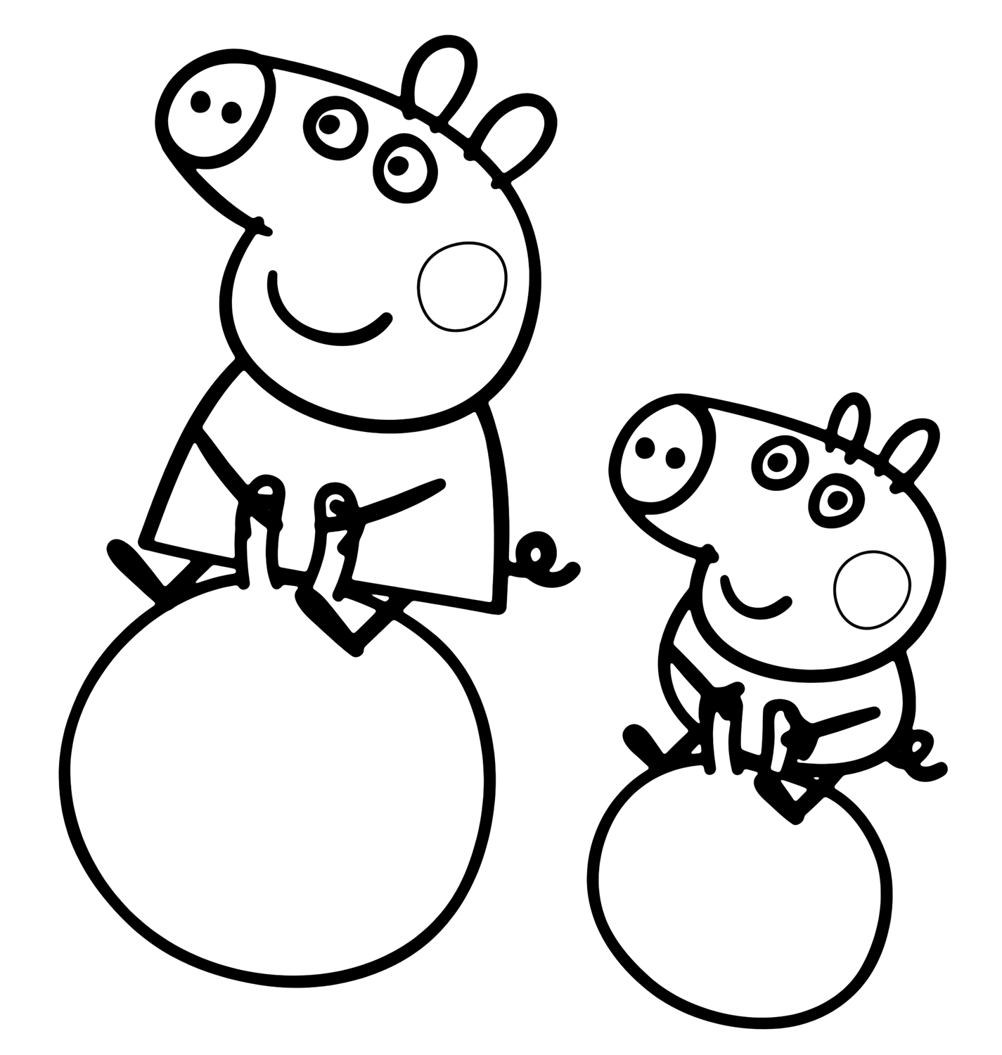 Peppa Pig Peppa Pig And George Are The Jugglers On The Ball