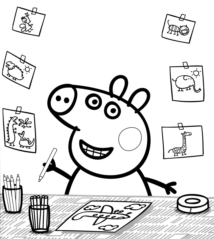 Peppa Pig Peppa Pig Draws An Airplane