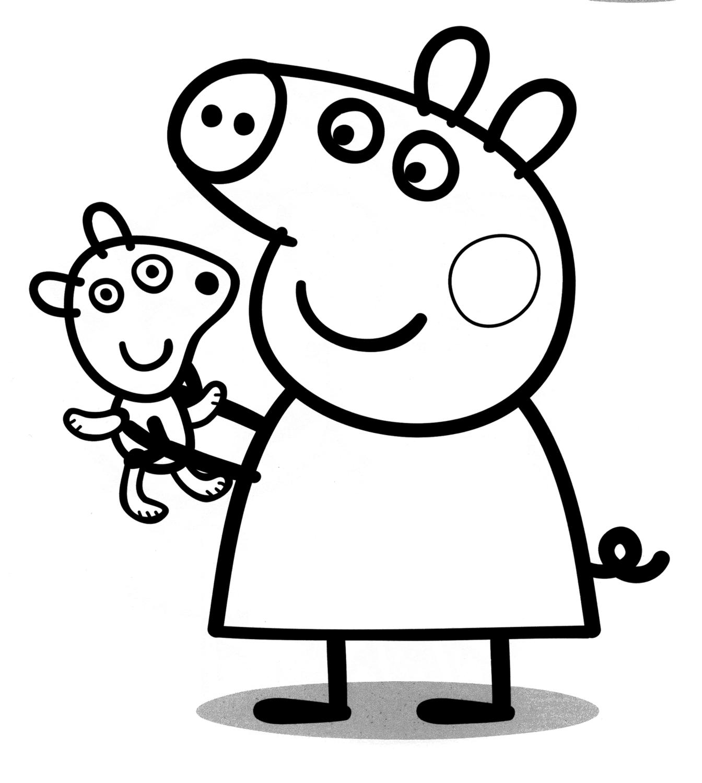 Peppa Pig - Peppa Pig with his teddy bear
