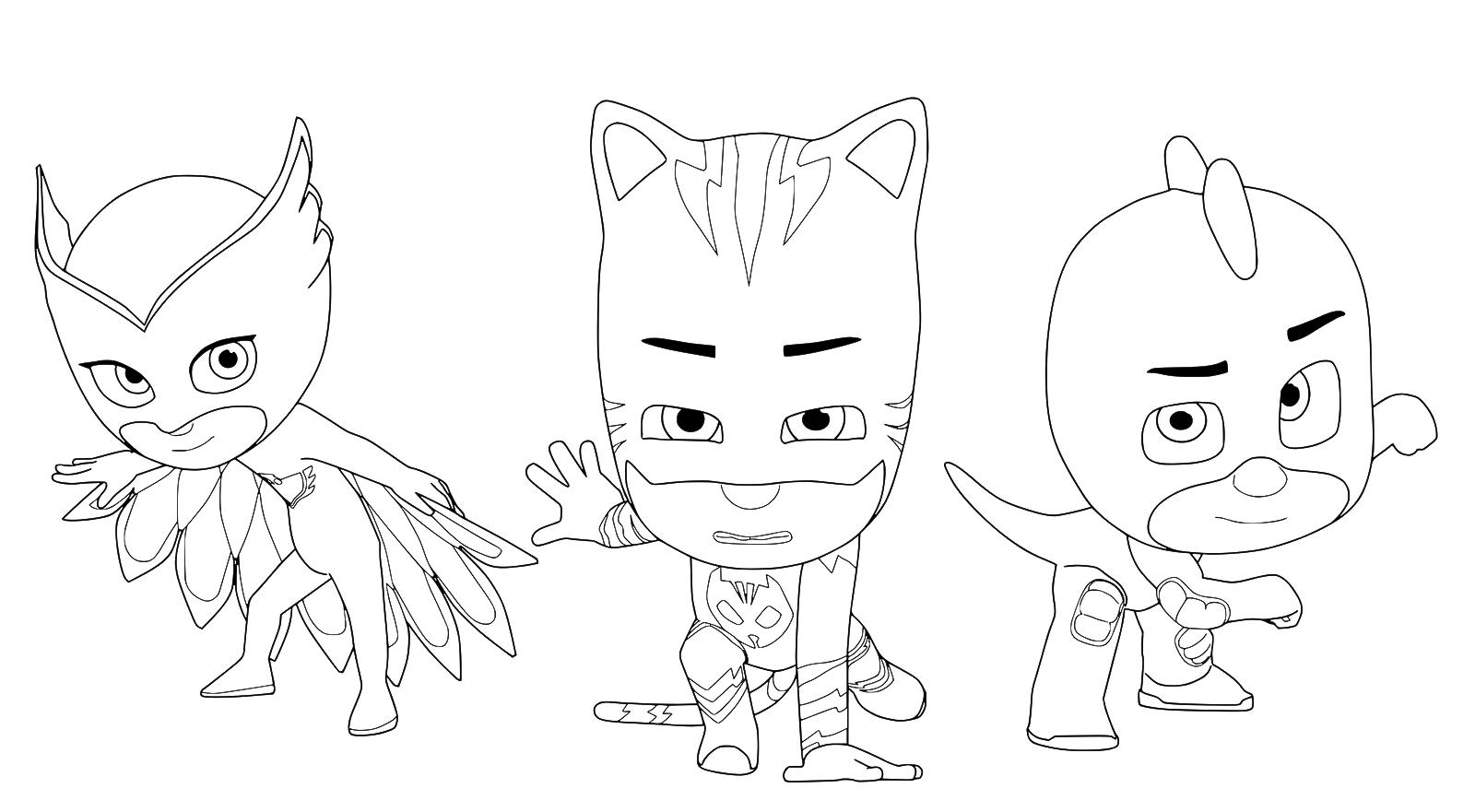 Pj Masks Catboy Owlette And Gekko The Pj Masks Team
