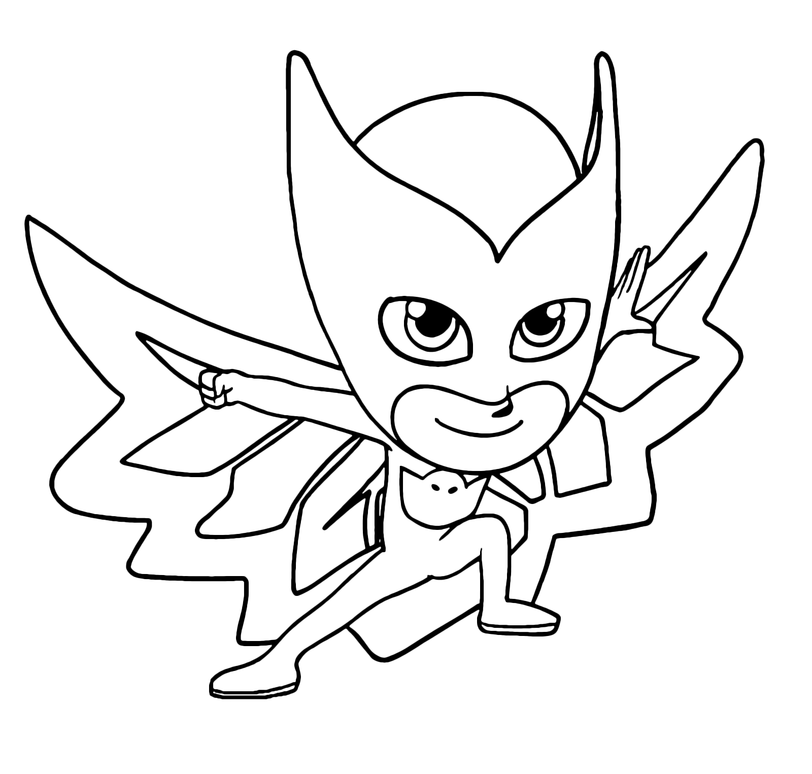 Pj Masks Owlette Ready To Defeat Enemies