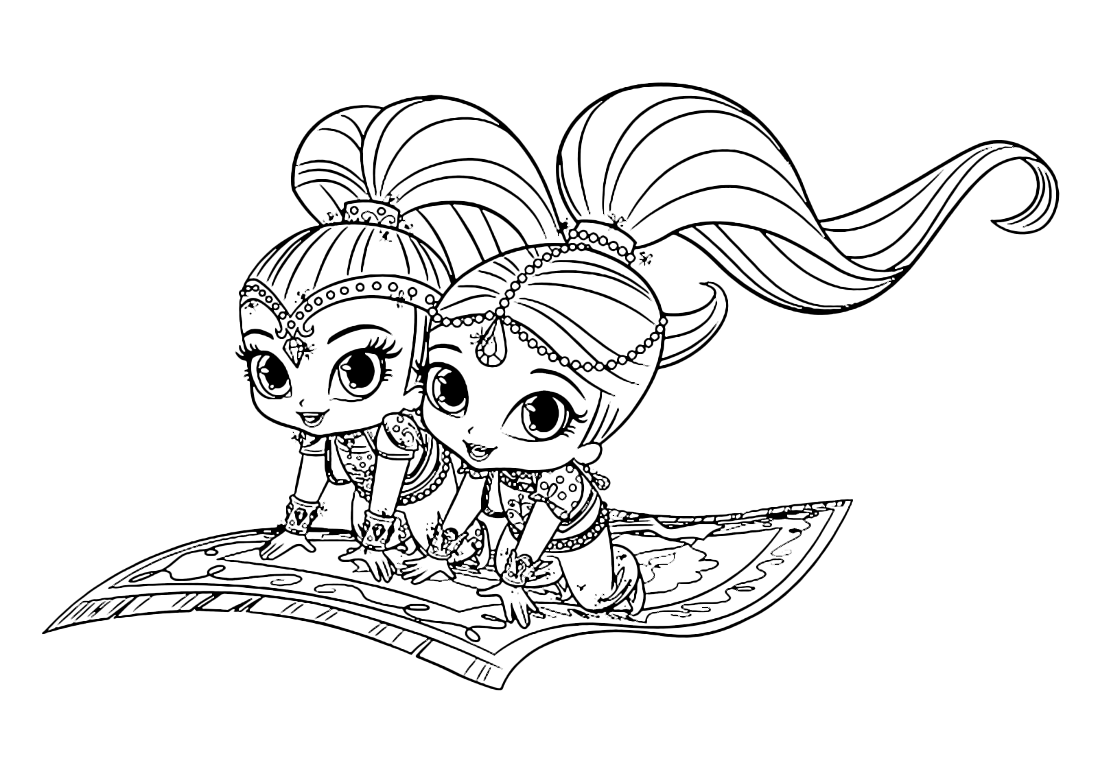 It's just a picture of Massif Free Printable Shimmer and Shine Coloring Pages