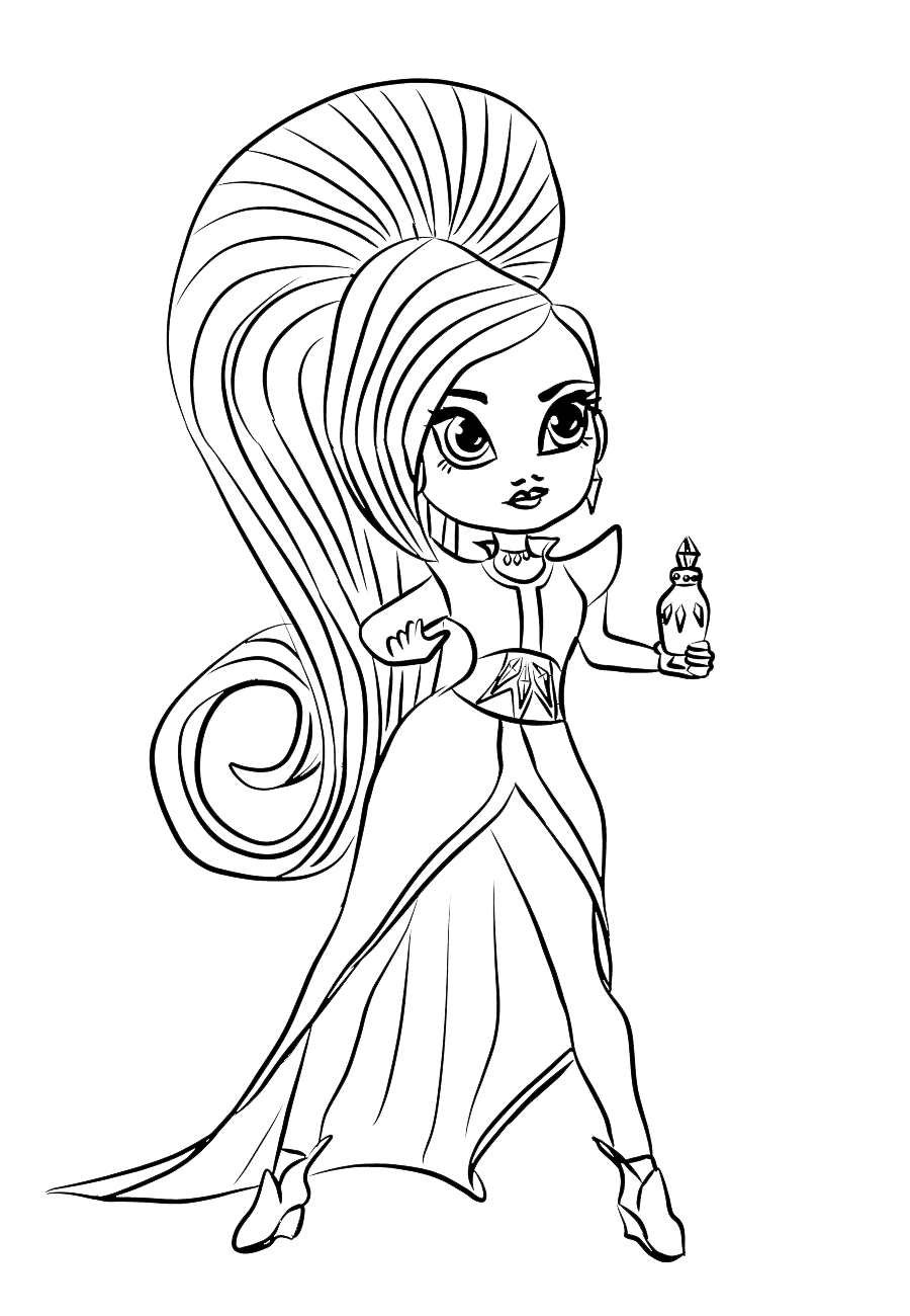 Shimmer And Shine Coloring Pages Con Immagini Nick Jr Games Book ... | 1300x900