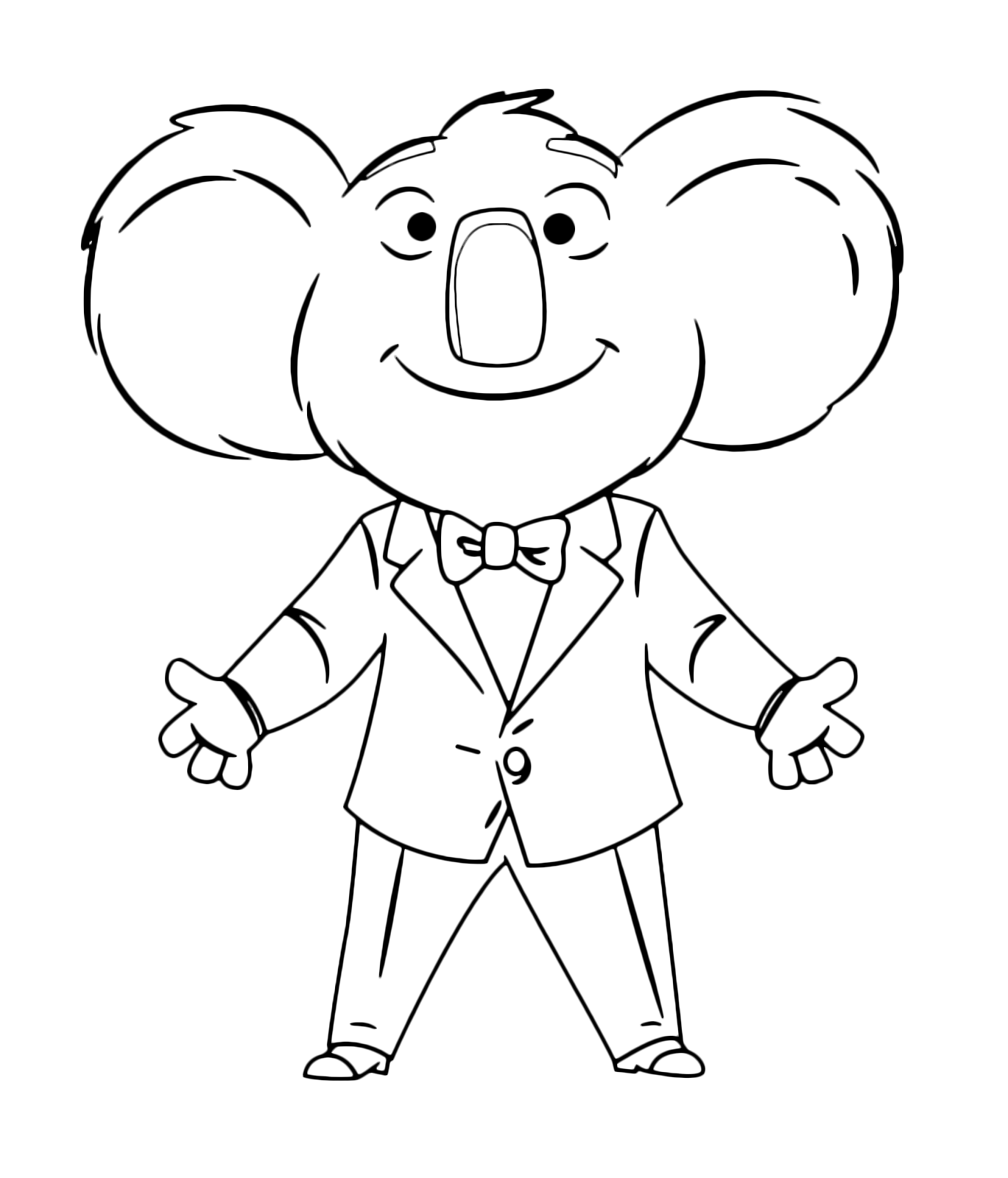 Sing Movie Coloring Pages Home Sketch Coloring Page