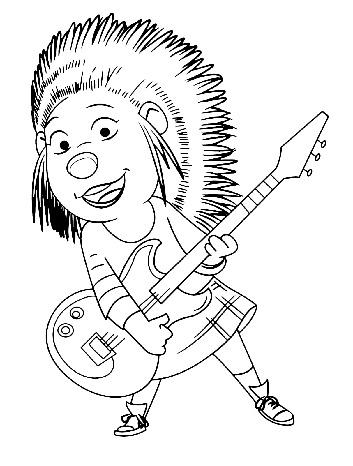Sing - The porcupine Ash plays her guitar