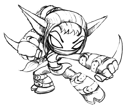 image for the most awesome attractive skylanders coloring pages stealth elf coloring
