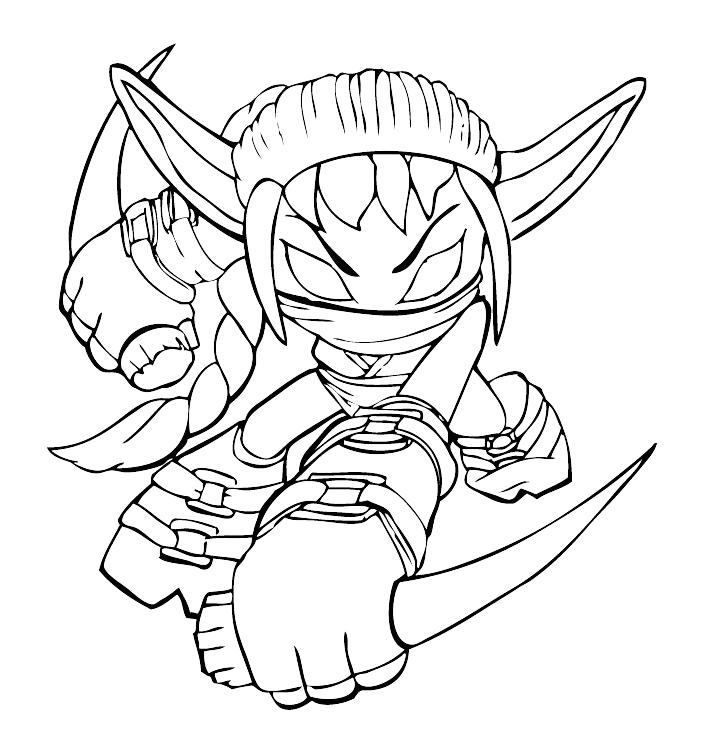 Skylanders Spyro Stealth Elf With His Daggers
