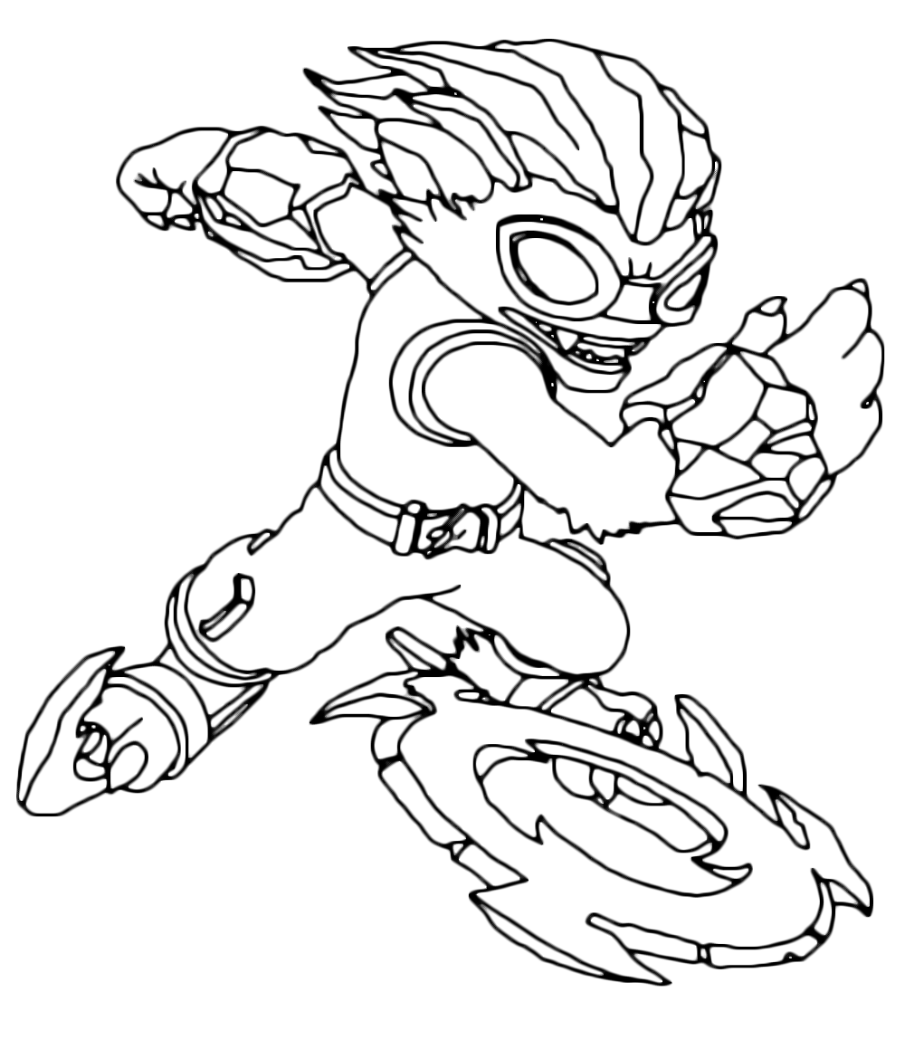 skylanders coloring pages freeze blade - photo#1