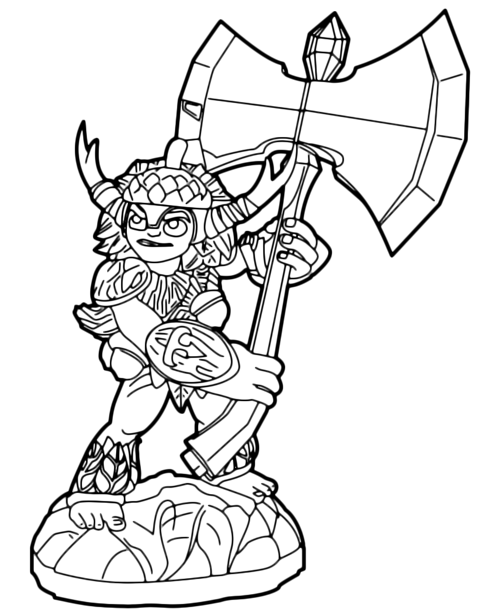 Skylanders Trap Team coloring pages - Chopper | Skylanders trap team,  Grinch coloring pages, Coloring pages | 1268x1000