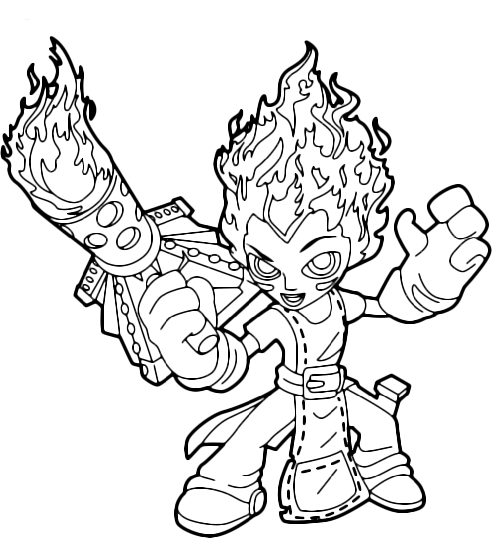 skylanders trap team coloring pages high five Coloring4free -  Coloring4Free.com | 1117x1000