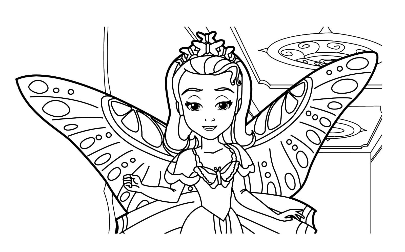 Sofia the First - Princess Amber with butterfly wings