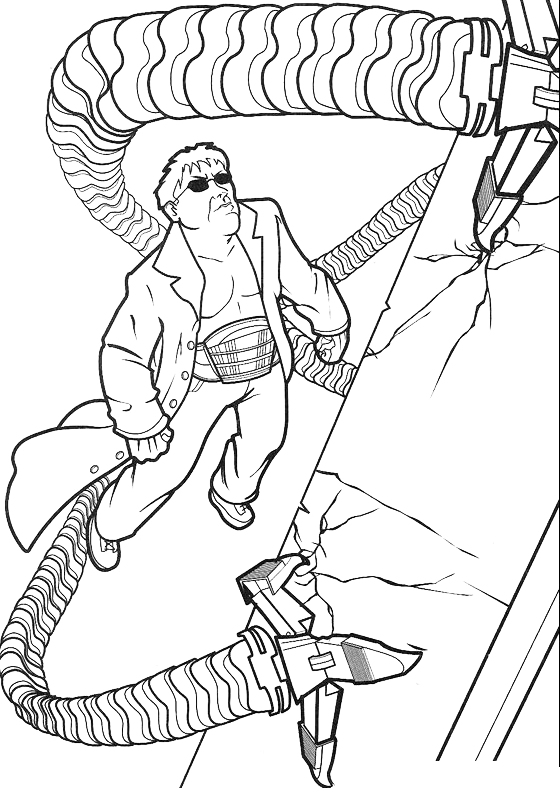 spiderman doctor octopus uses his tentacles