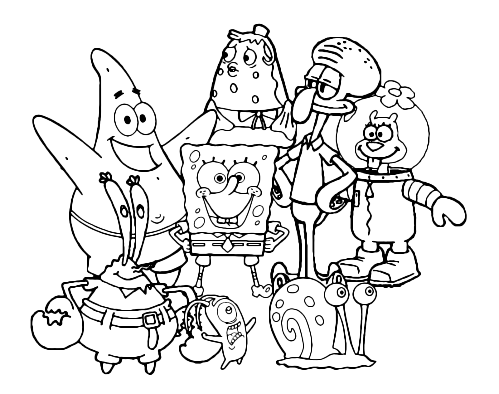 SpongeBob - SpongeBob Patrick Gary Sandy Squidward Mrs Puff Mr Krabs ...