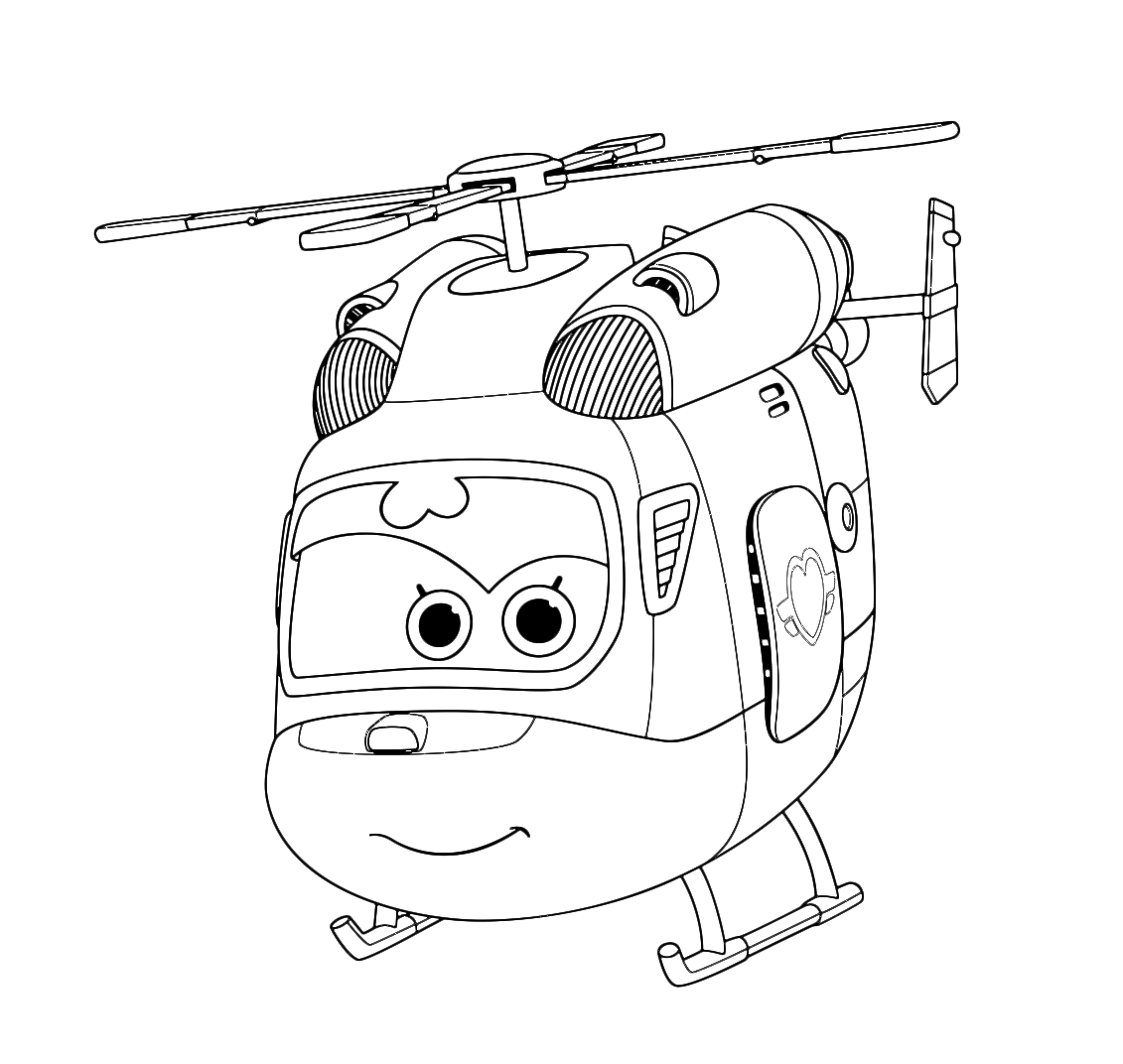 super wings coloring page wings dizzy is a beautiful helicopter - Sprout Super Wings Coloring Pages