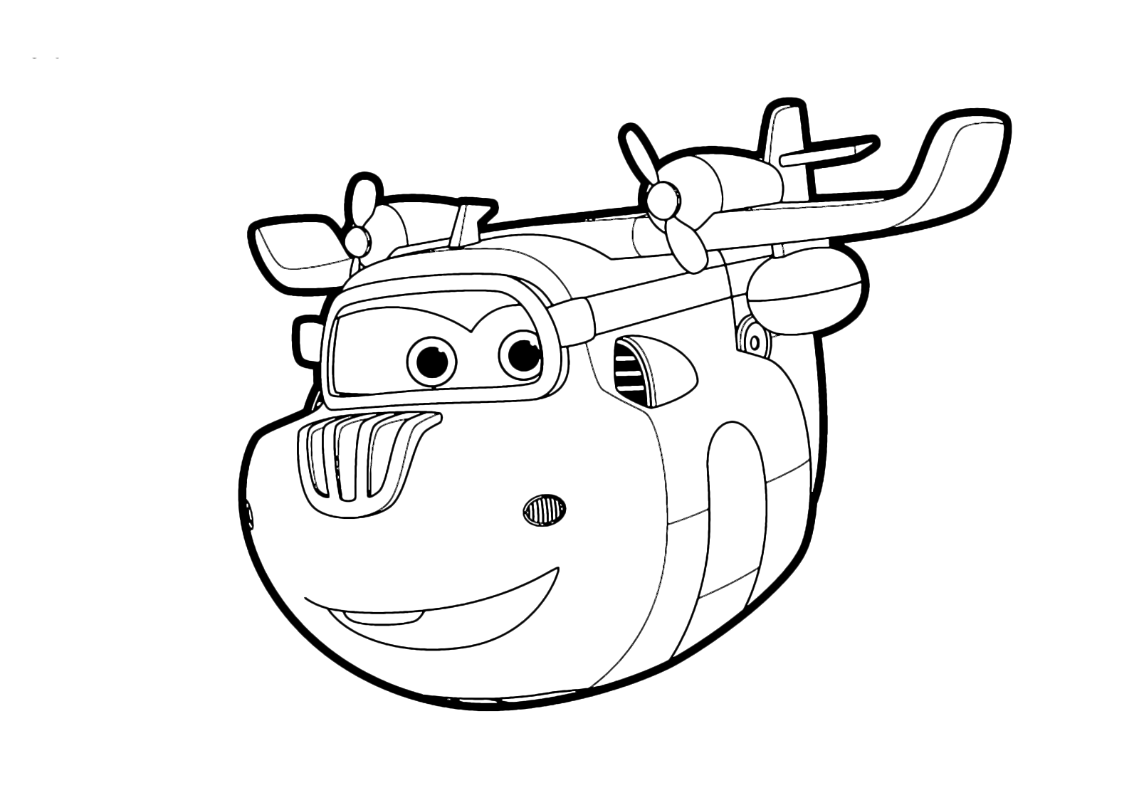 Super wings donnie flies in the sky for Super wings coloring pages