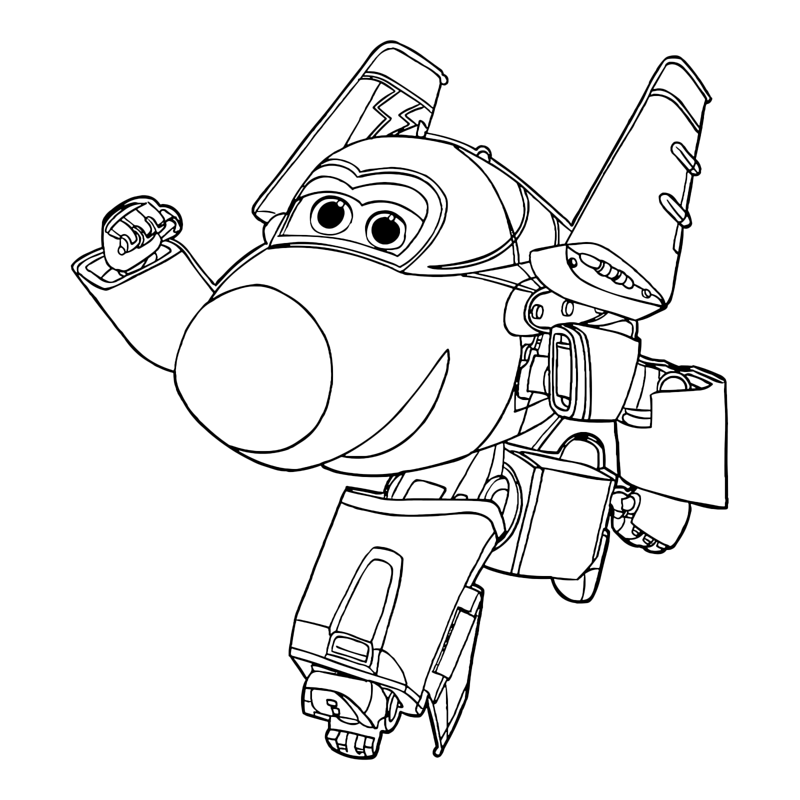 jett of the wings salutes coloring pages