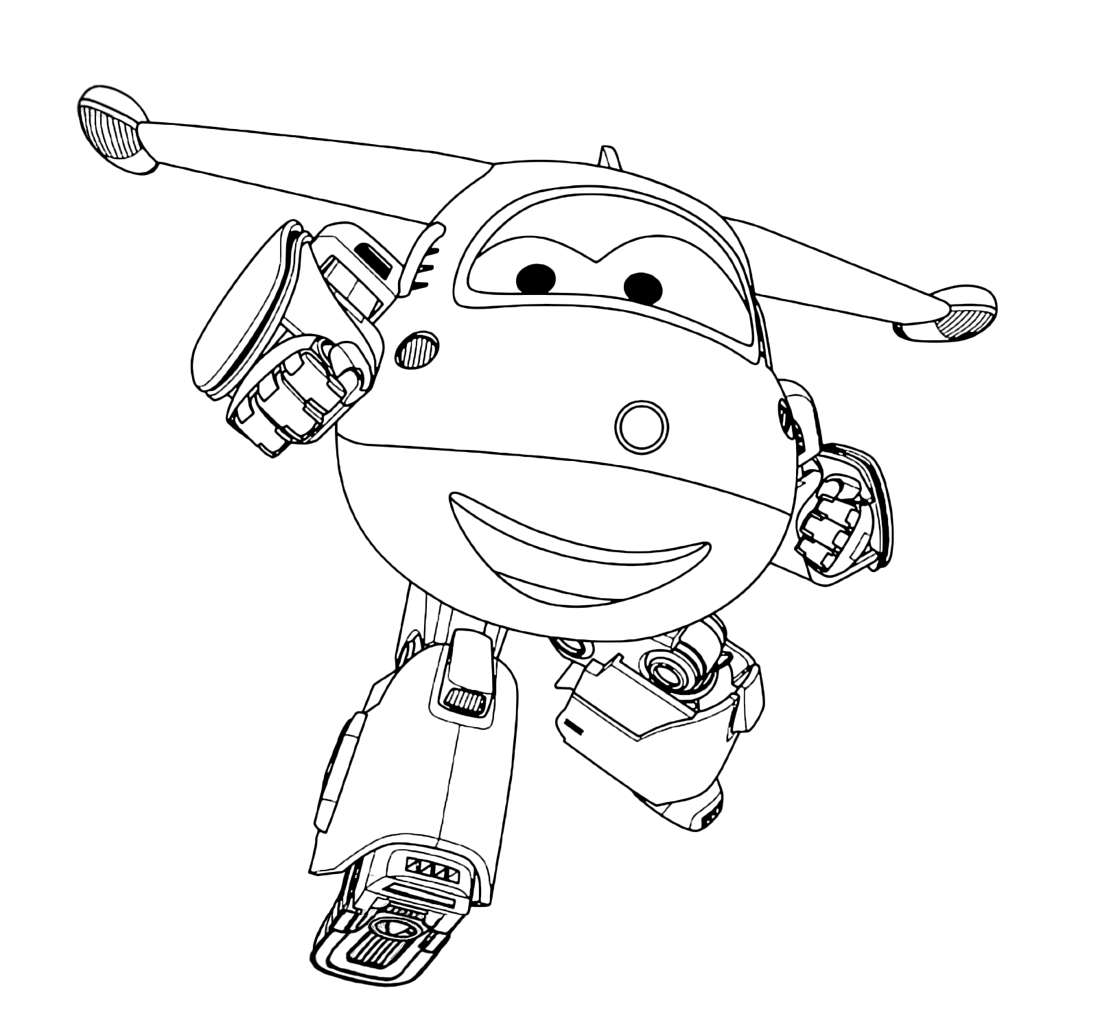 super wings coloring page wings jett plane white and red which takes the packages to children - Sprout Super Wings Coloring Pages