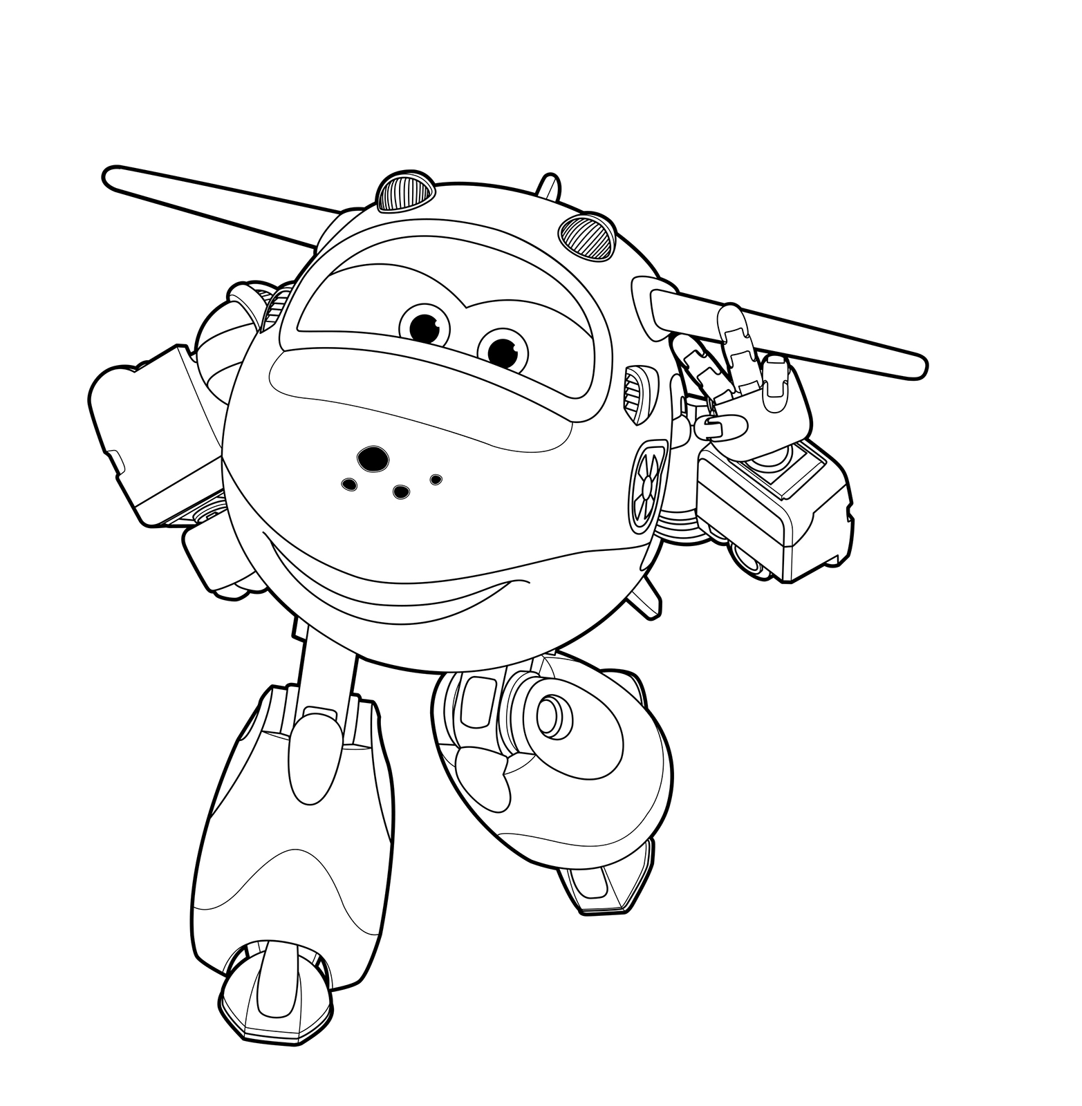 Super Wings Mira The Airplane Which May Fall Into The Abyss Aeroplane Colouring Page