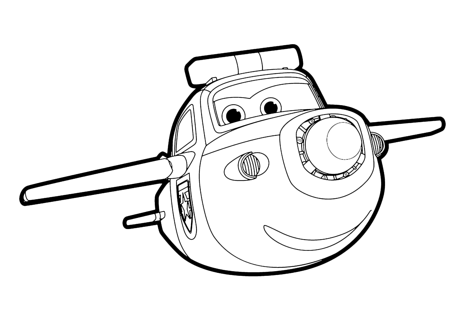 Paul Super Wings Coloring Pages