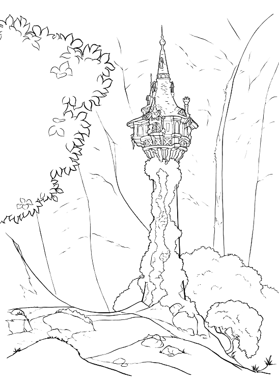 Tangled - The tower where Rapunzel is imprisoned