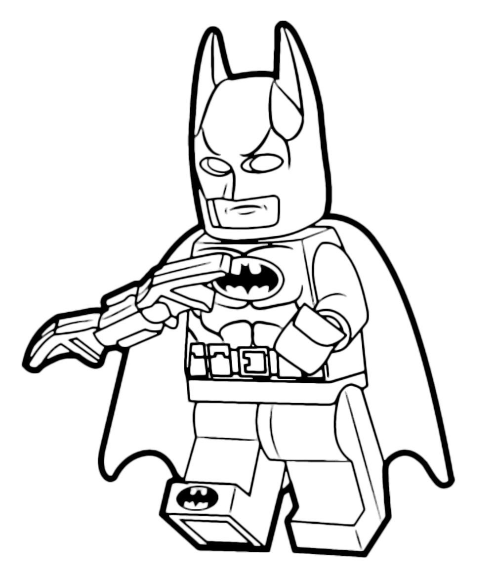 The lego movie batman with his weapon for Immagini spiderman da colorare