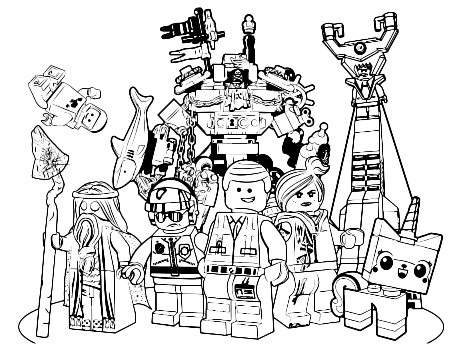 The Lego Movie Emmet Along With All His Friends