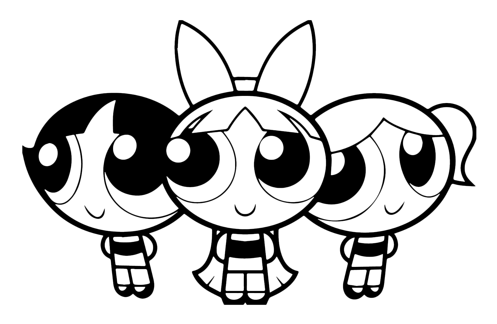 The Powerpuff Girls - Drawing with the three Powerpuff Girls ...
