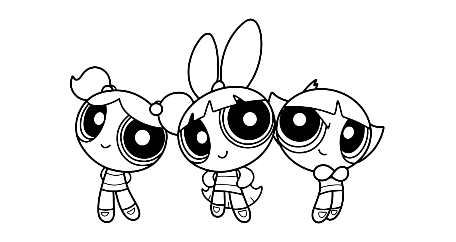 - The Powerpuff Girls - The Powerpuff Girls Is Posing For A Picture